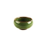Пиала из обливной керамики ʺКолотый Ледʺ (Малахит) 60 мл.