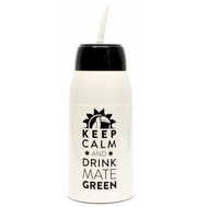 "Матермос ""Keep Calm and drink Mate Green"" 0,5 л. белый"