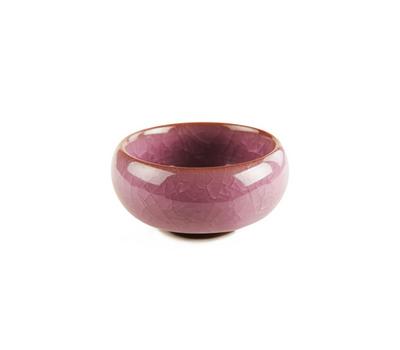 Пиала из обливной керамики ʺКолотый Ледʺ (Фиолетовая) 60 мл.