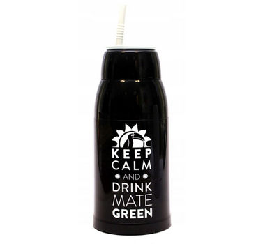 "Матермос ""Keep Calm and drink Mate Green"" 0,5 л. черный"