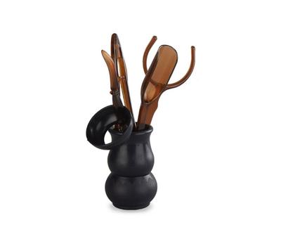 Инструменты для чайной церемонии (темный пластик)
